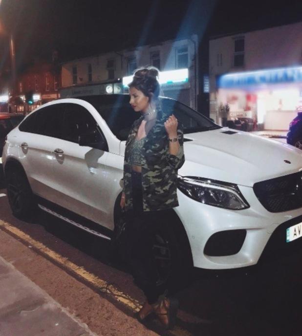 Former TOWIE star Ferne McCann wears camouflage co-ords, Instagram, 22 September 2016