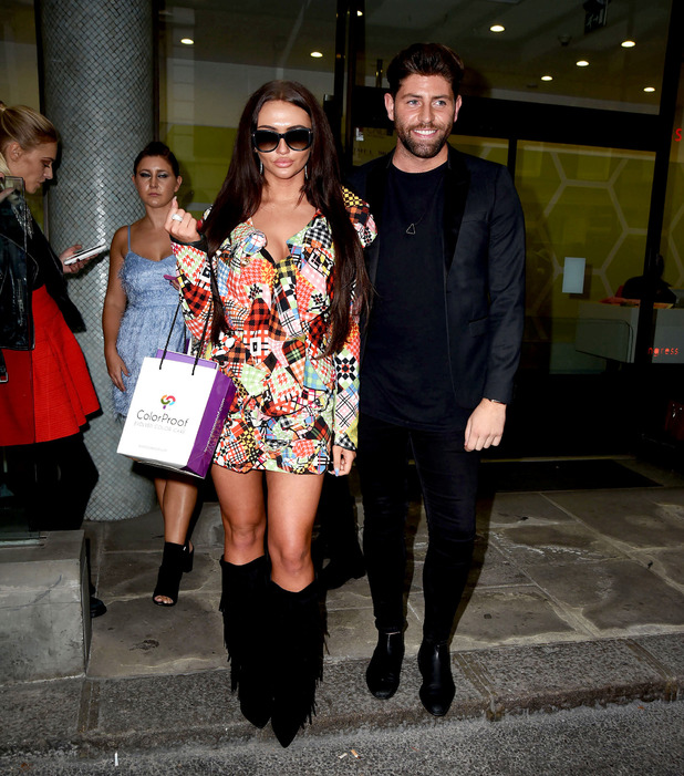 Ex On The Beach star Charlotte Dawson and Big Brother's Sam Giffen seen leaving the Vin + Omi London Fashion Week show, London, 19 September 2016