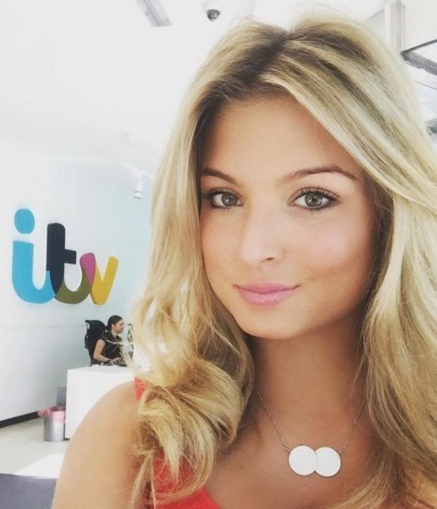 Zara Holland selfie at ITV Studios, London 21 September