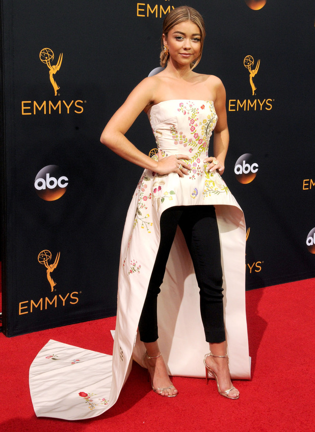 Modern Family actress, Sarah Hyland attends the 68th Annual Primetime Emmy Awards at Microsoft Theater on September 18, 2016 in Los Angeles, California.