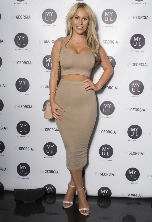 TOWIE's Kate Wright at Georgia Kousoulou's By Georgia K launch party, London, 20 September 2016