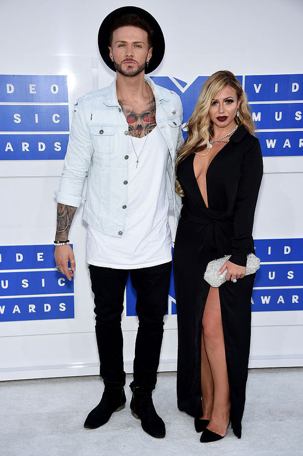 Holly Hagan and Kyle Christie attend the VMAs, New York 28 August