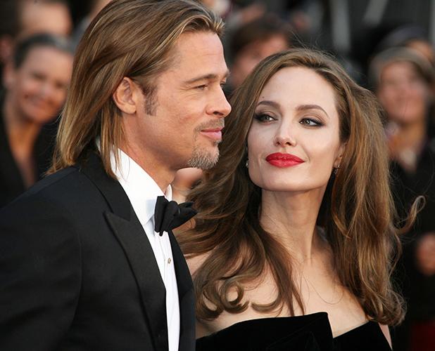 Brad Pitt and Angelina Jolie at Oscars 2012