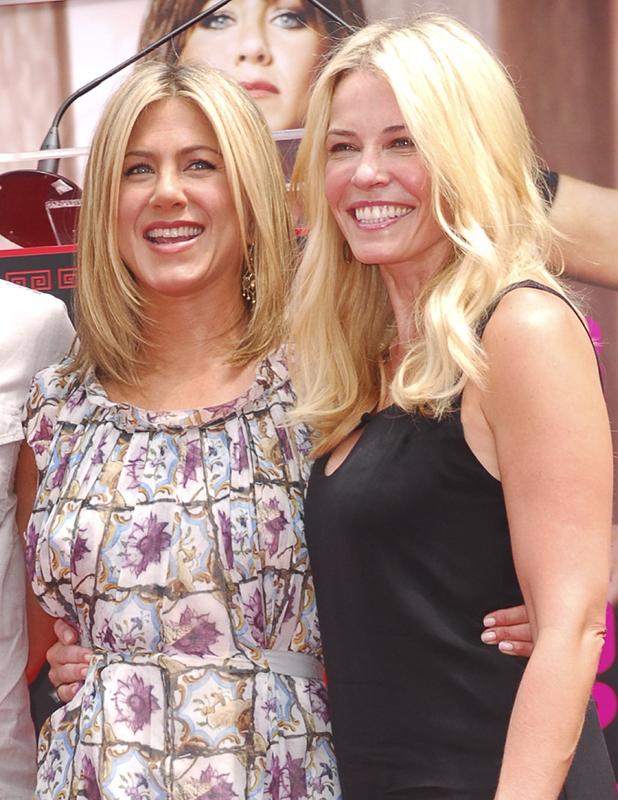 Chelsea Handler and Jennifer Aniston in 2011
