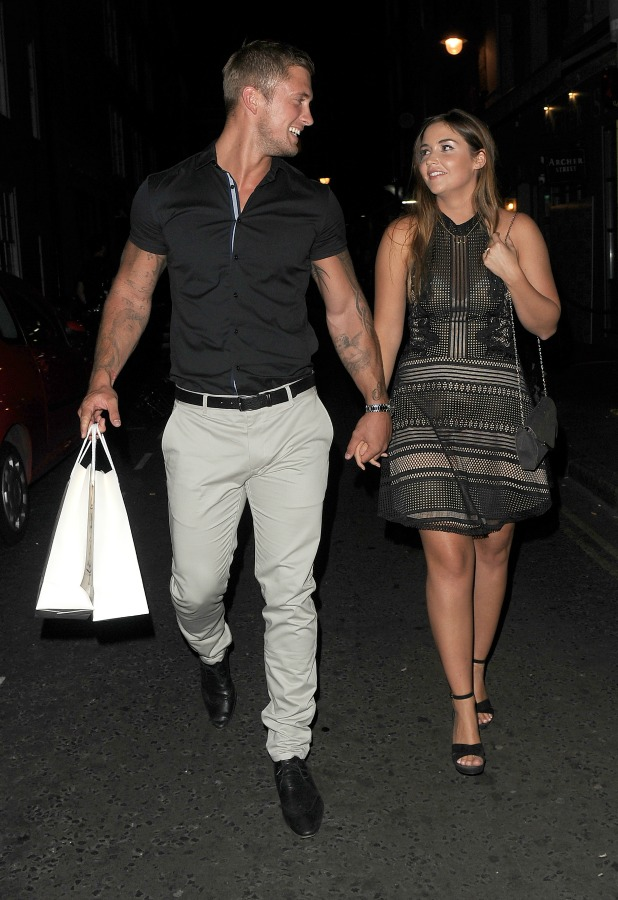 Jacqueline Jossa and Dan Osborne out and about in Soho 20 Sept 2016