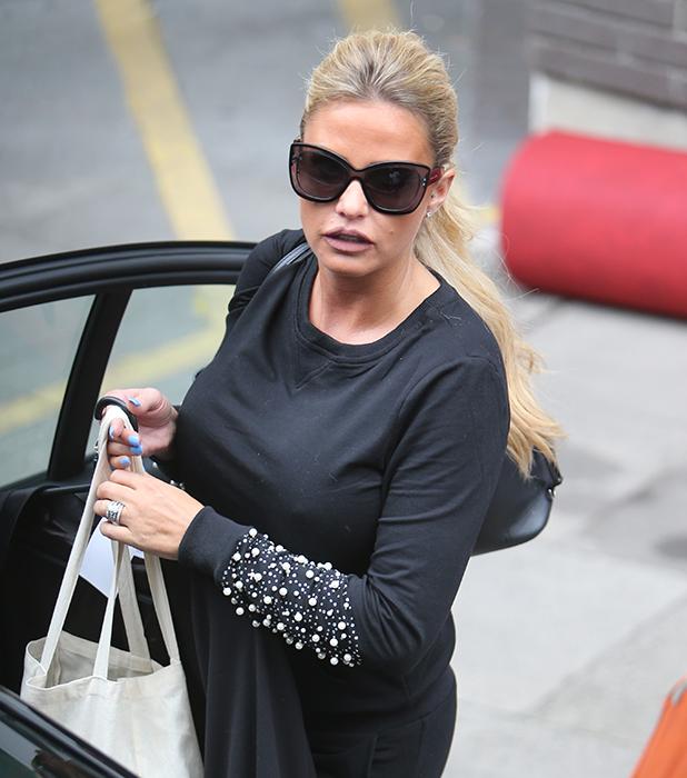 Katie Price outside ITV Studios, 9 September 2016