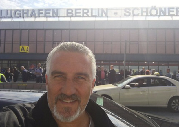 Paul Hollywood reveals he's in Berlin while reporters are at his home in the UK 23 Sept 2016