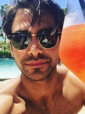 Luke Pasqualino selfie on Instagram 27 September