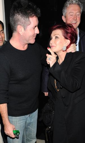 Sharon Osbourne and Simon Cowell, London February 2016
