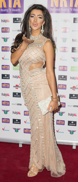 Celebrity Big Brother's Chloe Khan attends the National Reality Television Awards in London, 29 September 2016