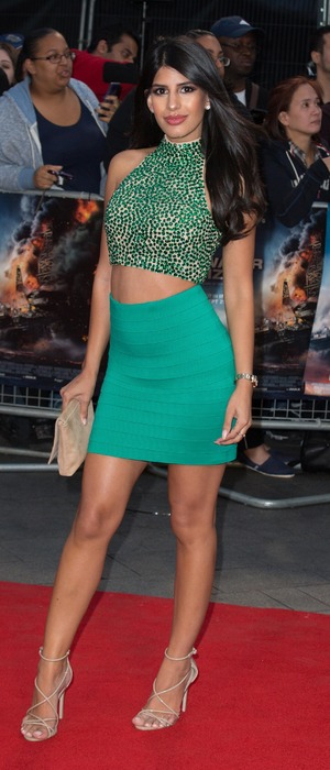 Former TOWIE star Jasmin Walia at the Deepwater Horizon premiere in London, 26 September 2016