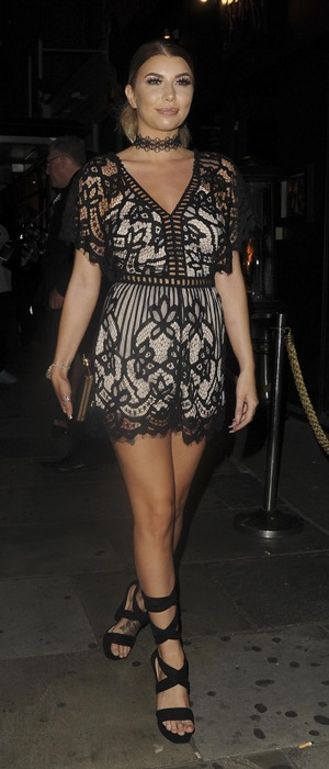 Love Island's Olivia Buckland attends the Cally Jane Beech x Solewish collection launch party at JuJu, London, 27 September 2016