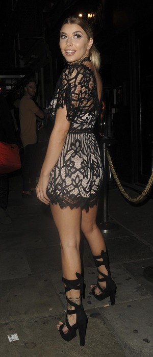 Love Island star Olivia Buckland attends the Cally Jane Beech x Solewish collection launch party at JuJu, London, 27 September 2016