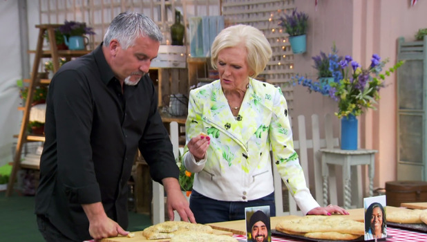 Mary Berry and Paul Hollywood on Great British Bake Off 28 September