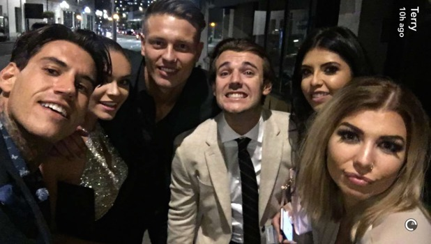 Love Island stars at the National Reality TV Awards 29 September