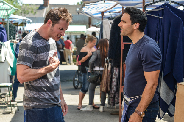 EastEnders, Kush and Martin argue, Thu 29 Sep