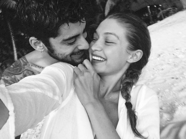 Gigi Hadid and Zayn Malik on holiday, Instagram 29 September