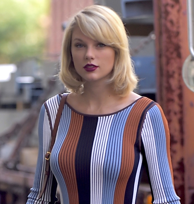 Taylor Swift is seen in Tribeca on September 16, 2016 in New York City