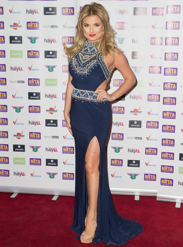 Love Island star Zara Holland attends the National Reality Television Awards in London, 29 September 2016