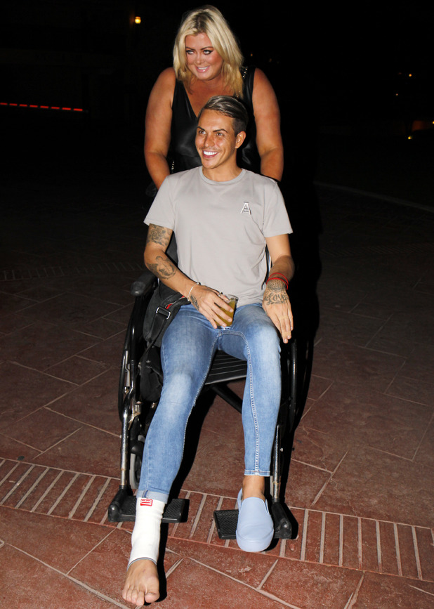 Gemma Collins and Bobby Norris in Marbella 24 September