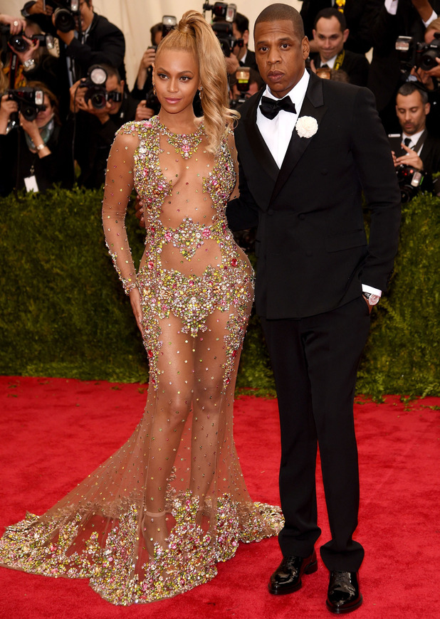 Beyonce on the red carpet at the Met Gala, 4th May 2015