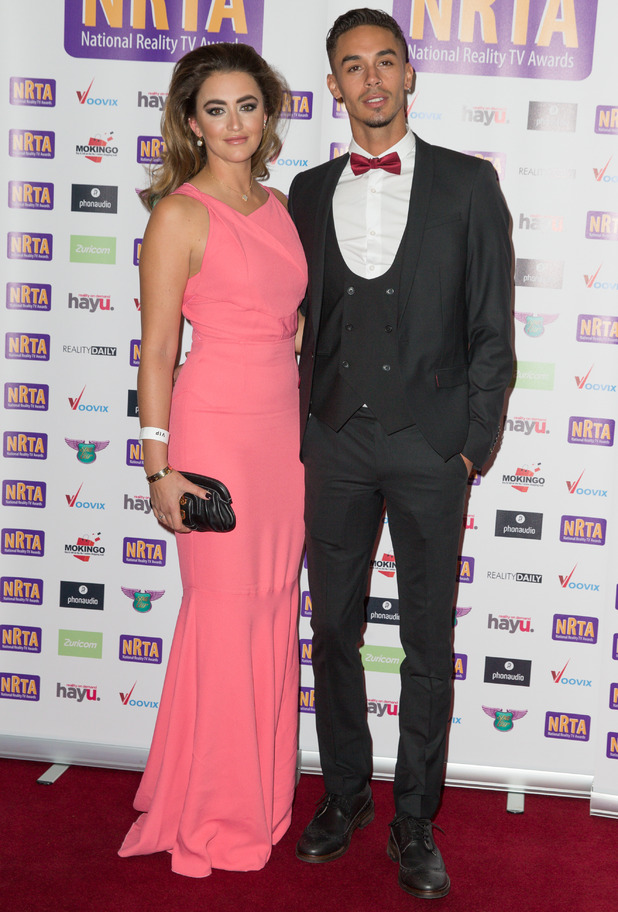 Georgina Leigh Cantwell and Jackson Blyton, National Reality TV Awards, London 29 September