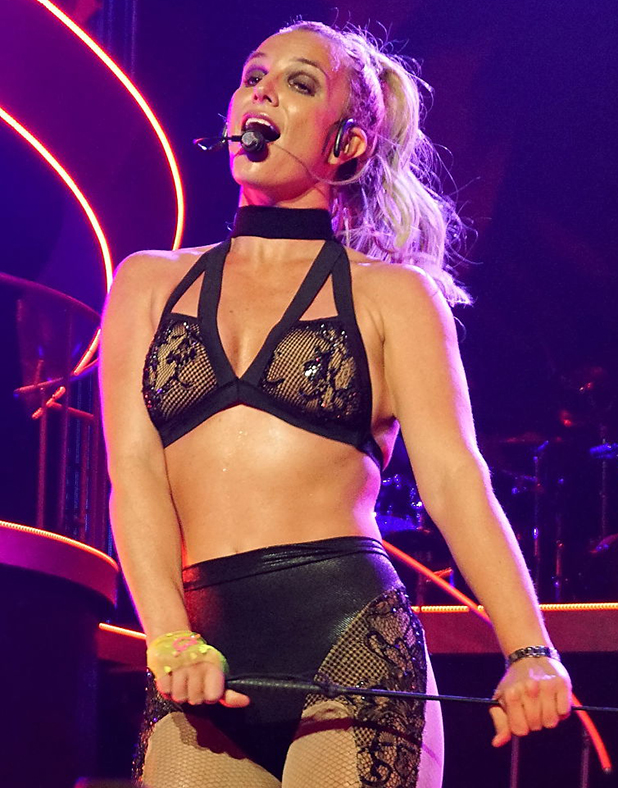 Britney Spears performs her Piece Of Me Show at the Axis Theatre, Planet Hollywood Resort on August 29, 2015 in Las Vegas Nevada.