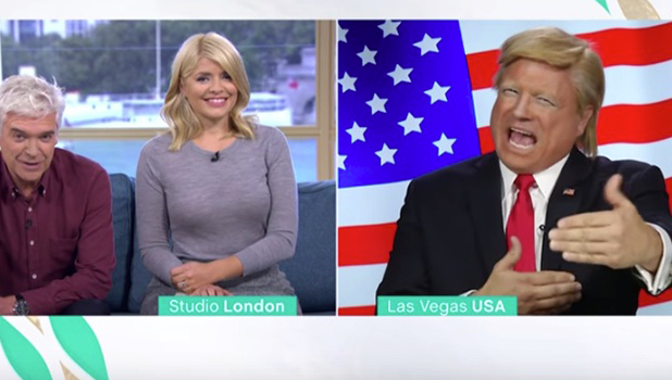 Donald Trump impersonator appears on This Morning 2016