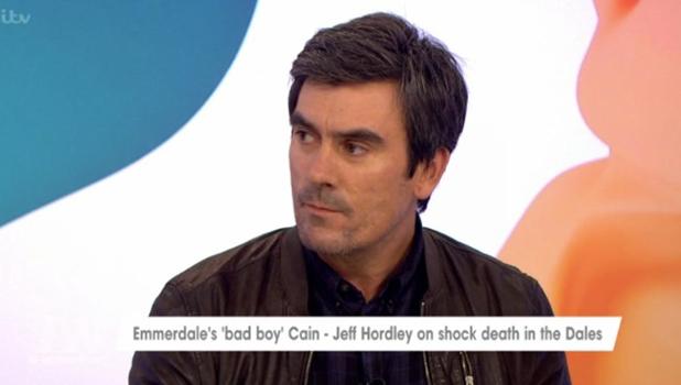 Jeff Hordley on Loose Women talking about Emmerdale 30 September 2016