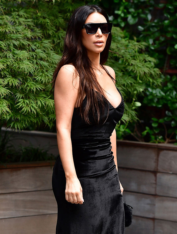 Kim Kardashian seen on the streets of Manhattan on September 14, 2016 in New York City. (Photo by James Devaney/GC Images)