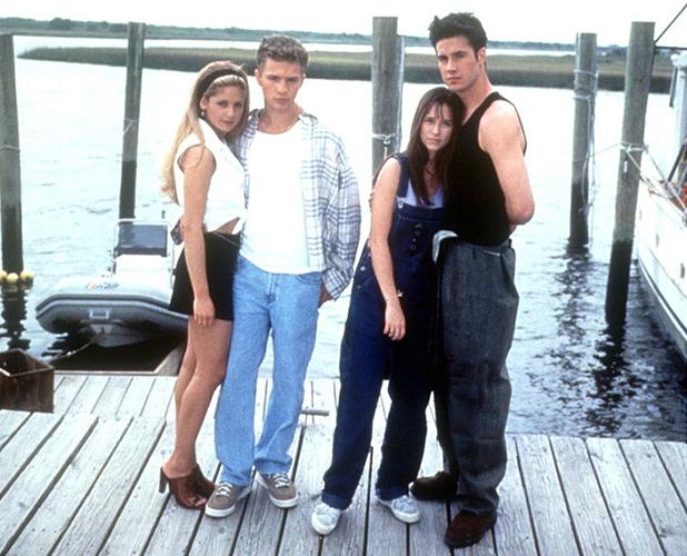 I KNOW WHAT YOU DID LAST SUMMER, Sarah Michelle Gellar, Ryan Phillippe, Jennifer Love Hewitt and Freddie Prinze Jnr 1999