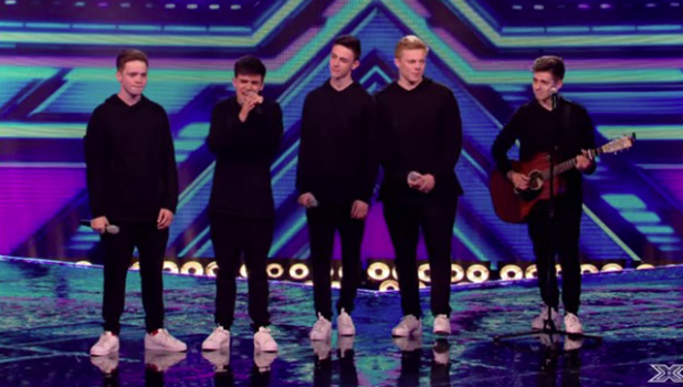 Yes Lad performs for the judges at bootcamp on 'The X Factor'. Broadcast onITV1HD