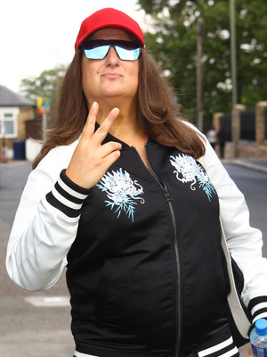 Honey G arrives at The X Factor, London 4 October