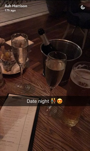 "Ash Harrison shares ""Date night"" Snapchat 2 October"