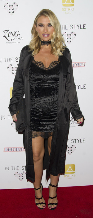 Former TOWIE star Billie Faiers at the In The Style 3rd birthday party, London, 6 October 2016