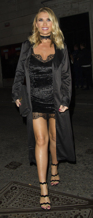 Former TOWIE star Billie Faiers on her way to the In The Style 3rd birthday party, London, 6 October 2016