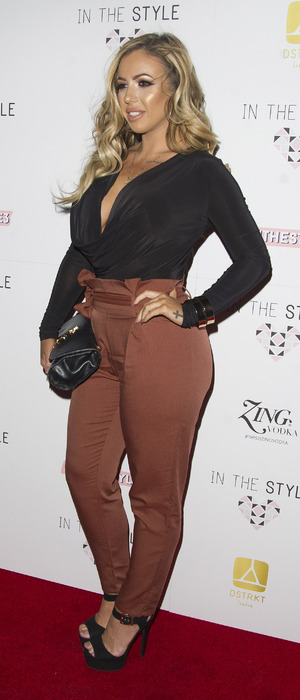 Geordie Shore's Holly Hagan at the In The Style party, London 6 October 2016