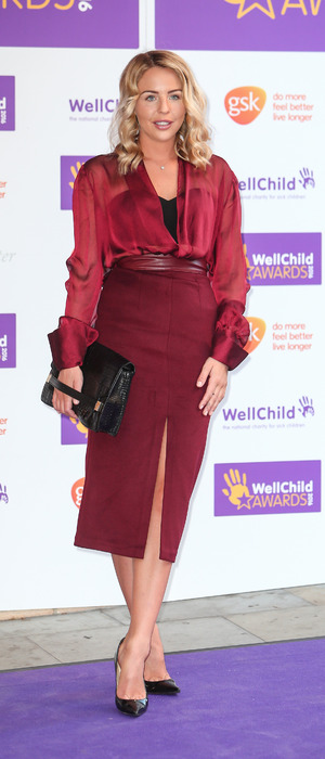 TOWIE star Lydia Bright attends the WellChild Awards, London, 3 October