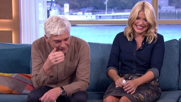 Phillip Schofield and Holly Willoughby laughing on This Morning 6 October