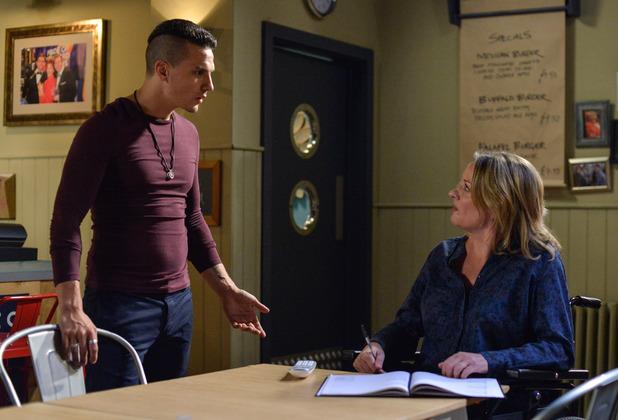 EastEnders, Steven makes Jane feel uncomfortable, Thu 6 Oct