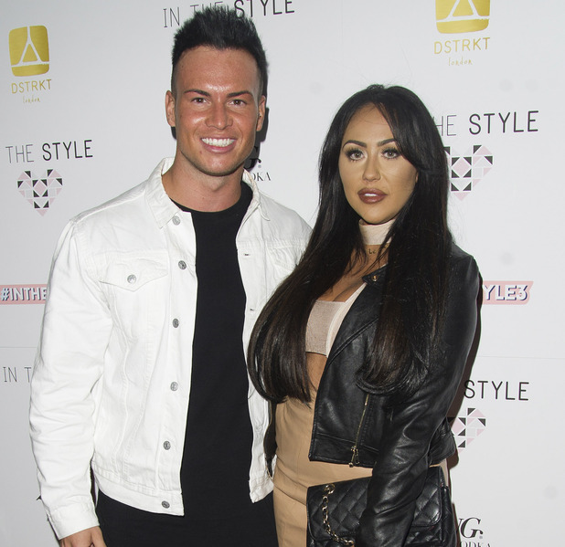 Geordie Shore's Sophie Kasaei and Joel Corry attend the In The Style party, London, 6 October 2016