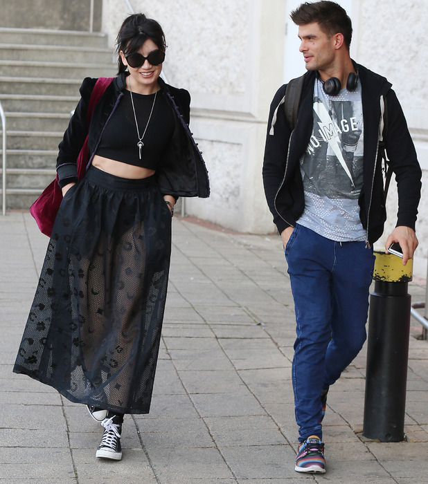 Strictly Come Dancing star Daisy Lowe out and about with dance partner Aljaz Skorjanec, London, 5 October 2016