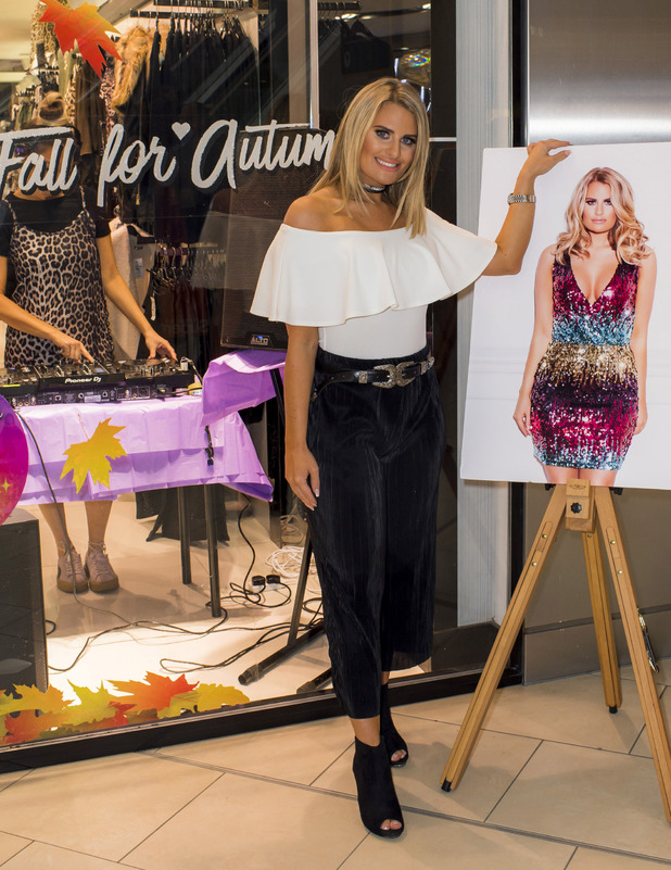 TOWIE's Danielle Armstrong launches Quiz party edit into stores, Lakeside, Essex, 7 October 2016