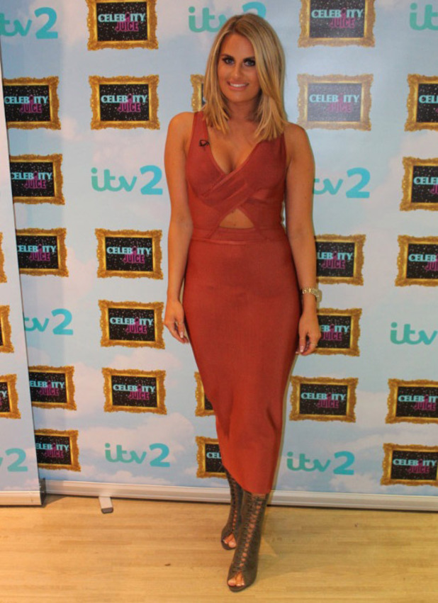 TOWIE star Danielle Armstrong on Celebrity Juice, 6 October 2016