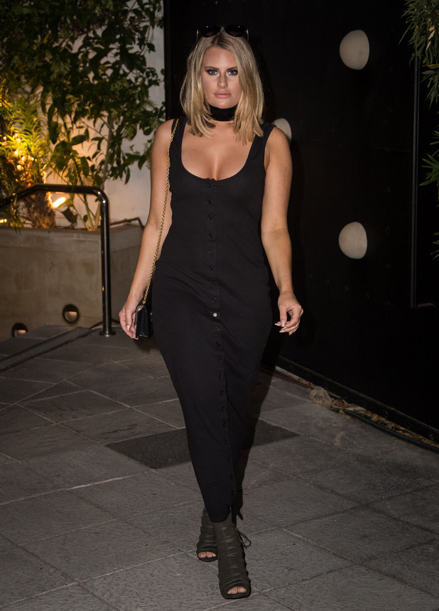 TOWIE star Danielle Armstrong out and about in Mabella, Spain, 1 October 2016