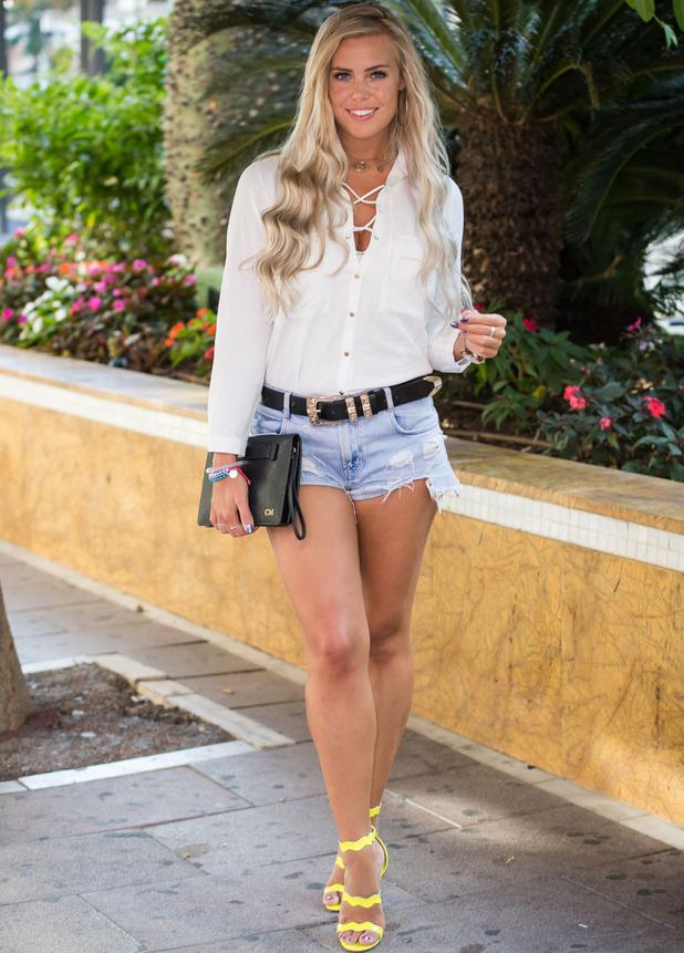 TOWIE star Chloe Meadows filming in Marbella, 1st Octobe 2016