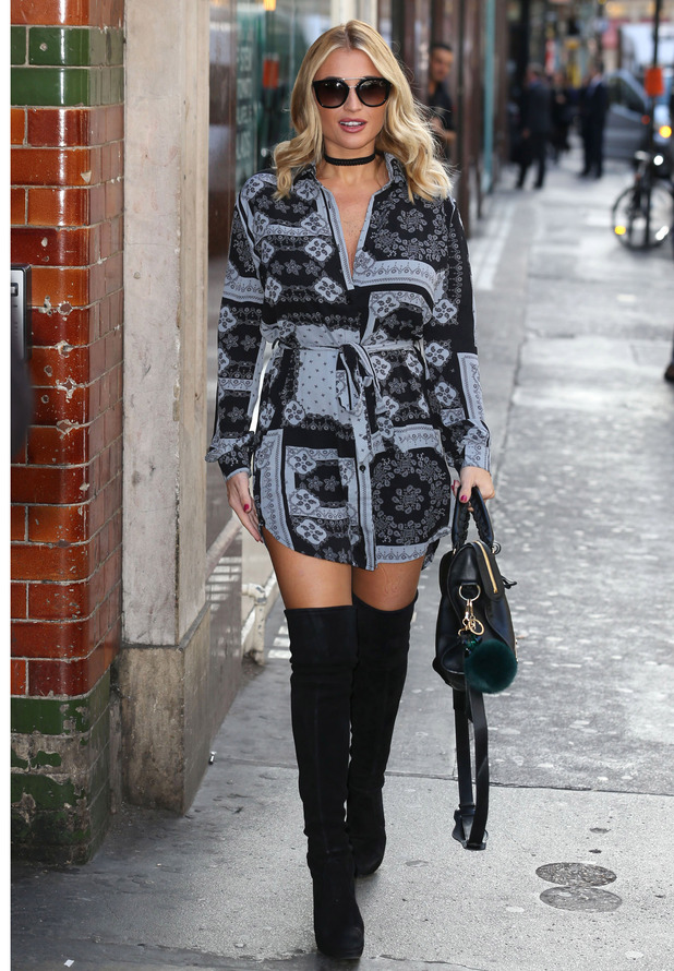 Ex TOWIE star Billie Faiers on her way to the In The Style press event, London, 6 October 2016