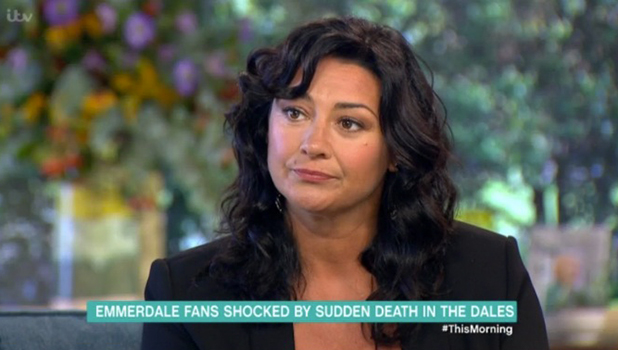 Natalie J Robb talking about Holly Barton's death on Emmerdale This Morning 3 October 2016