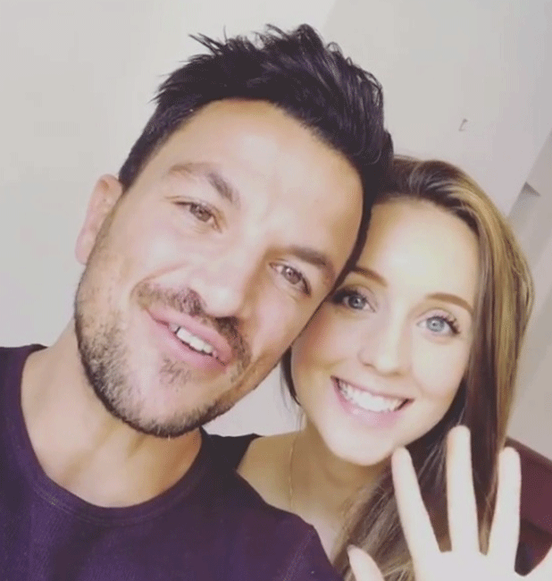 Emily MacDonagh and Peter Andre in Instagram video about flu vaccination 2016