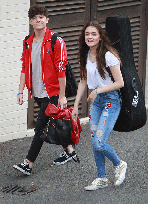 Ryan Lawrie and Emily Middlemas seen arriving at the Fountain Studios for the X Factor rehearsals, in London 6 October 2016